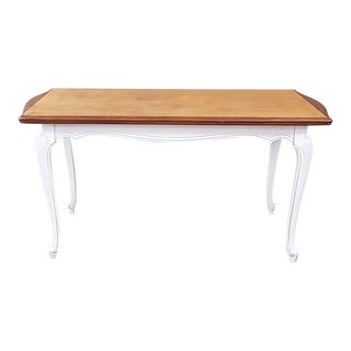 Vintage Oak Veneer Top Extendable Dining Table For Sale