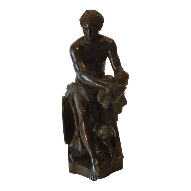 Late 20th Century Neoclassical Inspired Bronze Figure For Sale