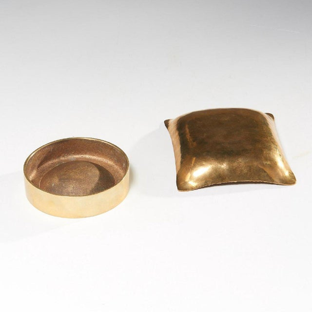 1960s Modernist Brass Vide Poche - a Pair For Sale - Image 4 of 5