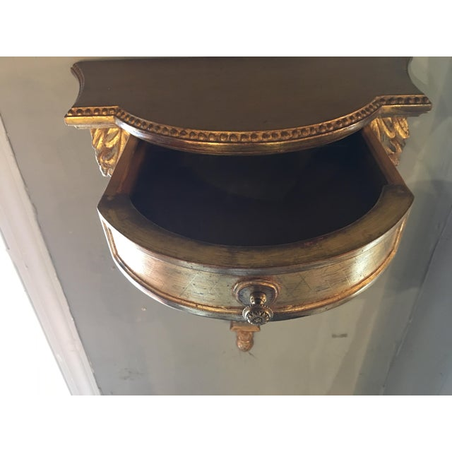 1920s Gilded Hanging Wall Console For Sale - Image 5 of 8