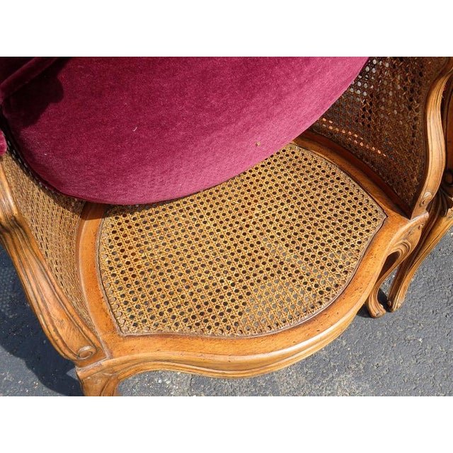 Louis XV Style Caned Lounge Chairs - A Pair For Sale - Image 4 of 6