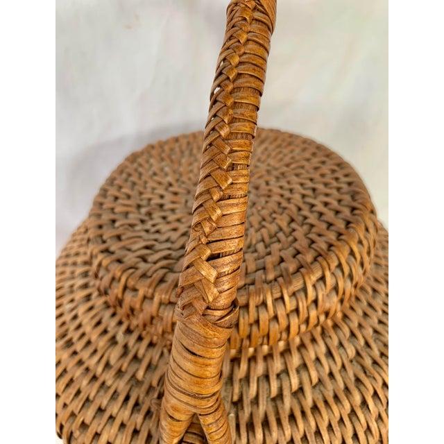 Vintage Large Lidded Basket For Sale - Image 11 of 13