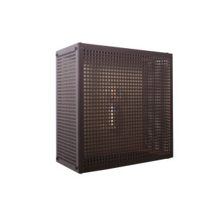 Modern Contemporary 001 Flush Mount in Blackened Brass by Orphan Work For Sale
