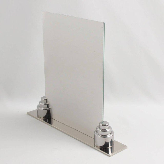 Art Deco Machine Age Chrome Picture Frame - Image 7 of 7