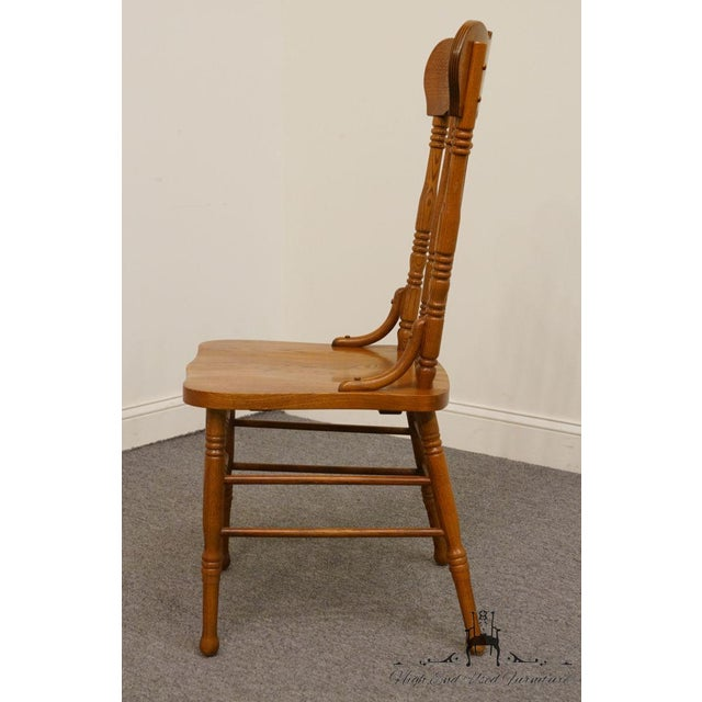 Late 20th Century Lexington Furniture Victoriana Series Solid Oak Desk / Accent Chair 610-537 For Sale - Image 5 of 9