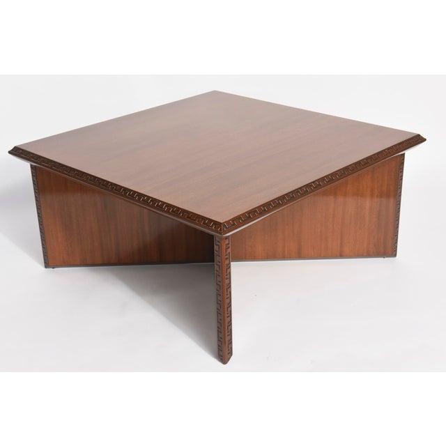 "Modern American Modern Mahogany ""Taliesin"" Low Table, Frank Lloyd Wright For Sale - Image 3 of 9"