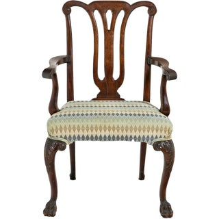 Mid 19th Century Chippendale Arm Chairs - a Pair For Sale