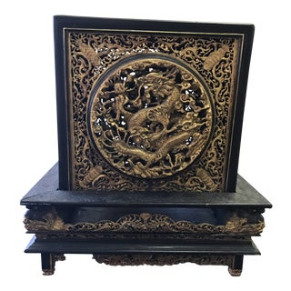 19th Century Peranakan Chinese Gilded Offering Box For Sale