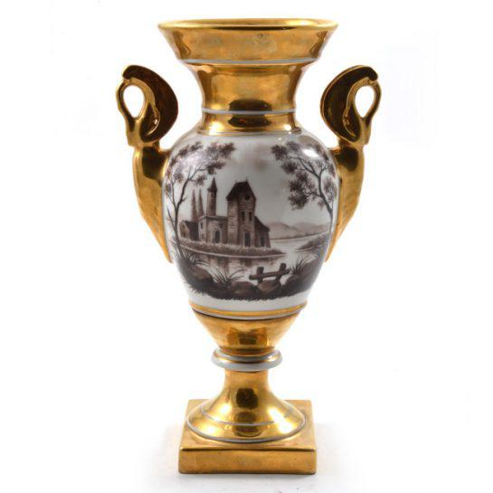 19th Century Antique French Porcelain Vases-a Pair For Sale In Houston - Image 6 of 13