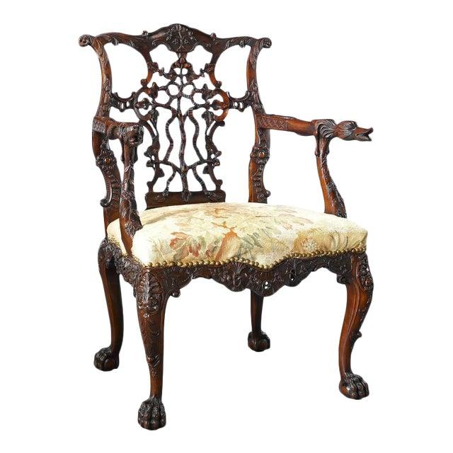 18th Century Georgian Mahogany Armchair For Sale
