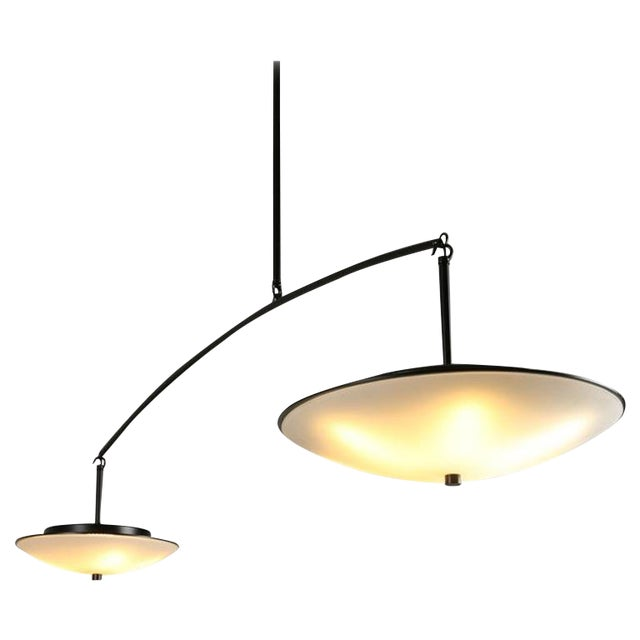 Contemporary Christopher Objects Draftsman No.3 Cantilever Pendant Light by Topher Gent For Sale