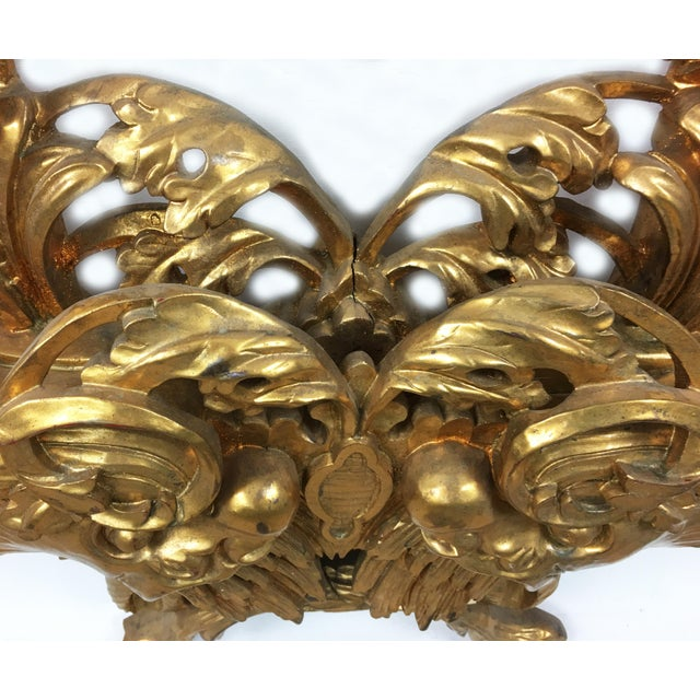 French Dolphin Carved Gilt Renaissance Revival Frame For Sale - Image 4 of 5