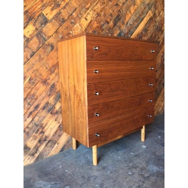 Vintage Stanley Walnut Highboy Dresser - Image 5 of 8