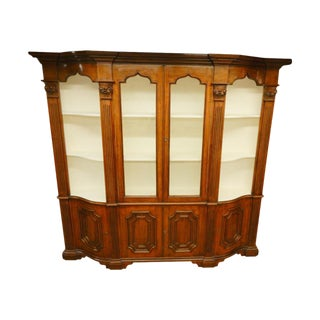 19th Century Italian Narrow Walnut Breakfront For Sale