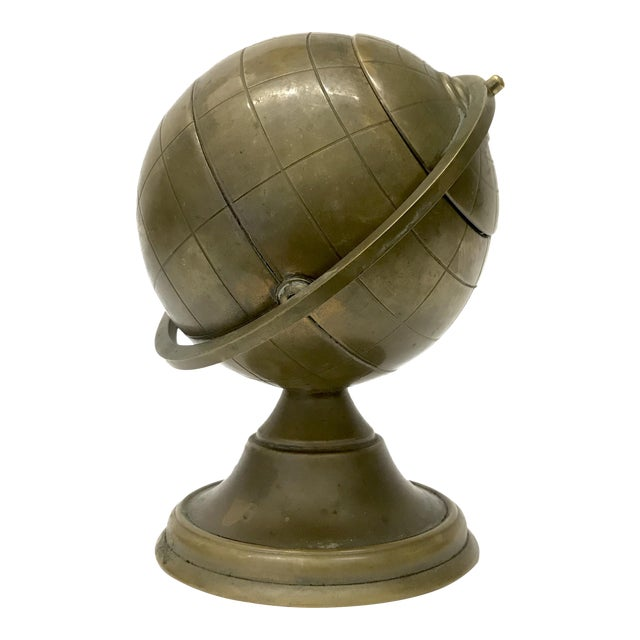 Vintage Brass Globe Ashtray - Image 1 of 5
