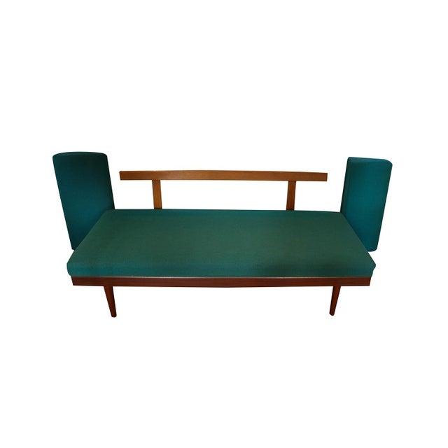 Norwegian Modern Teak Daybed Sofa Pull Out Tables Edvard Kindt Larsen for Gustav Bahus For Sale In Baltimore - Image 6 of 10