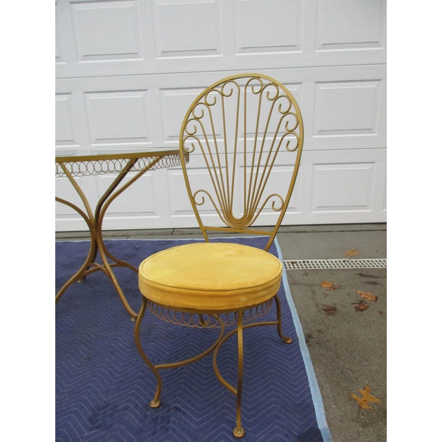 Vintage Hollywood Regency Bistro or Patio Set by Thinline For Sale - Image 6 of 13