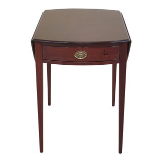 1950s Traditional Kittinger Colonial Williamsburg 1 Drawer Mahogany Pembroke Table For Sale