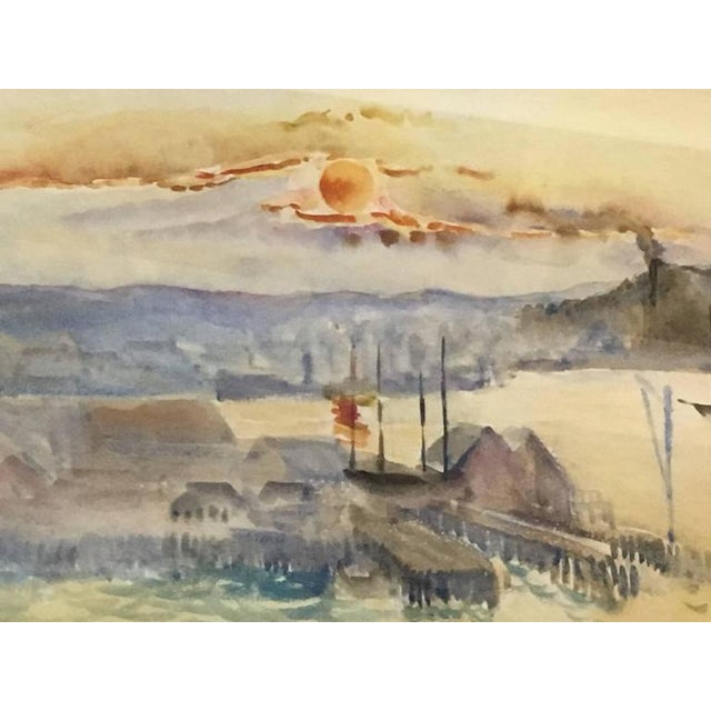 Hayley Lever Signed Watercolor Painting For Sale - Image 5 of 6