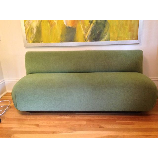 Contemporary Modern Custom Made Green Couch For Sale - Image 3 of 4