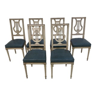 Painted Side Chairs- Set of 6 For Sale