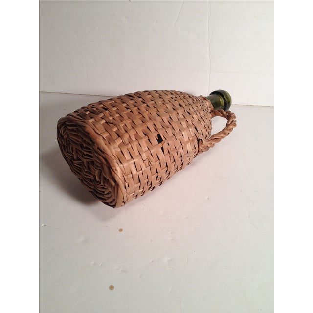 French Wicker-Wrapped Wine Bottle - Image 4 of 5