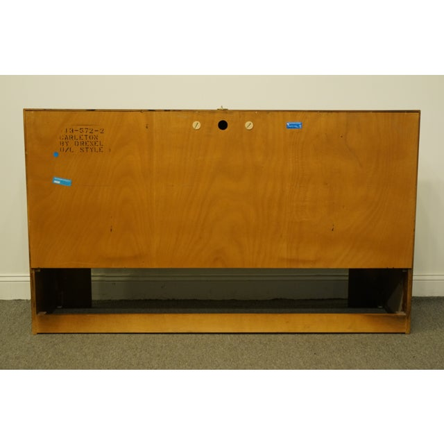 1980s Traditional Drexel Heritage Carleton Cherry Collection Storage Headboard For Sale - Image 10 of 12