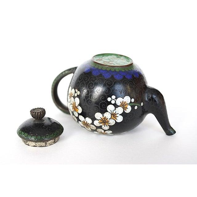 Farmhouse Antique Miniature Japanese Cloisonne Teapot For Sale - Image 3 of 13