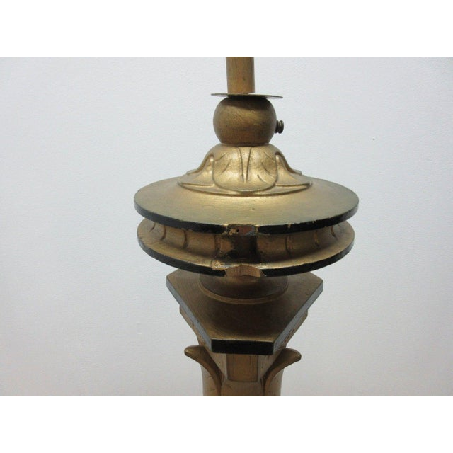 Antique Victorian Masonic Mason Taper Pole Lamp - Image 5 of 7