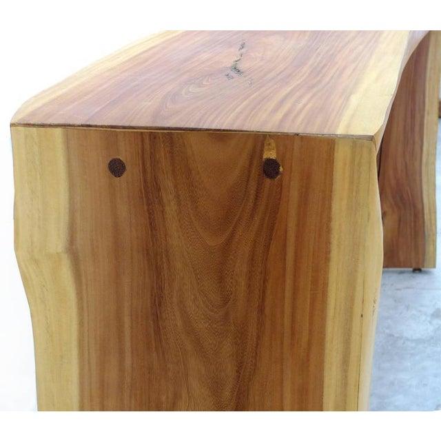 Guarapa Wood Console Table by Brazilian Contemporary Artist Valeria Totti For Sale In Miami - Image 6 of 11