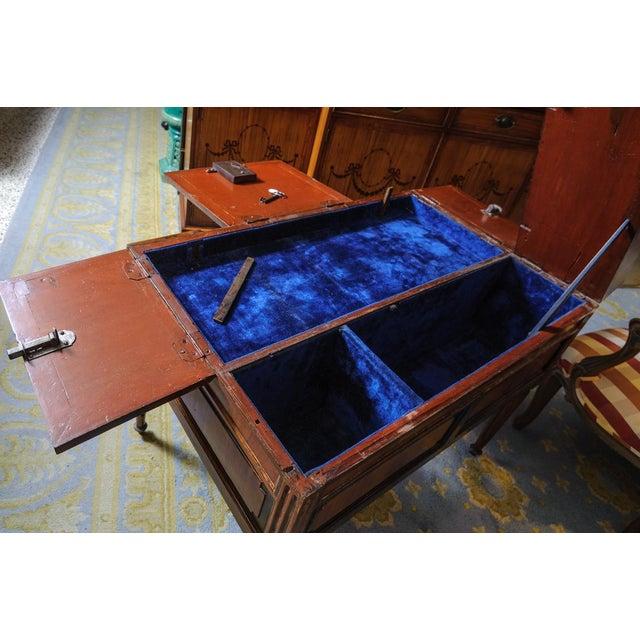 Louis XVI Walnut Valuables Cabinet Desk For Sale - Image 4 of 11