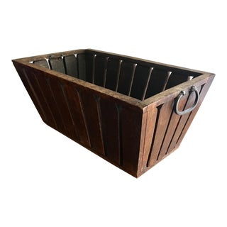 Vintage Wooden Catch All Box For Sale