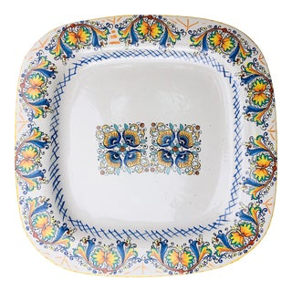 Vintage Handpainted Italian Ceramiche Serving Plater For Sale