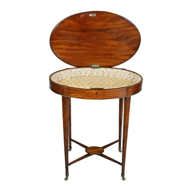 Traditional George III Mahogany Work or End Table For Sale - Image 3 of 9