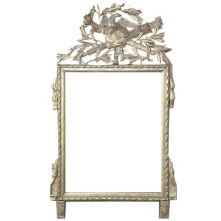 18th Century French Louis XVI Gilded Mirror For Sale