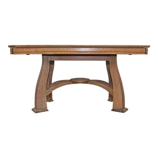 1940s Antique French Deco Wood Table For Sale