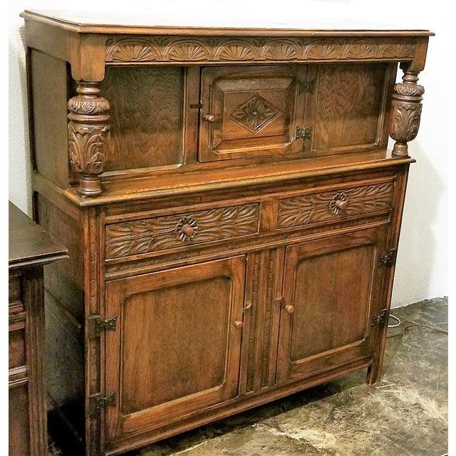 English Oak Renaissance Revival Cabinet For Sale In Dallas - Image 6 of 13