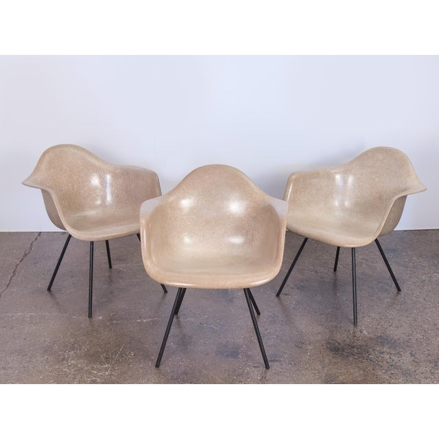Price is for one individual chair, there are three available. Second Generation Eames Armshell Chair in a warm greige on...