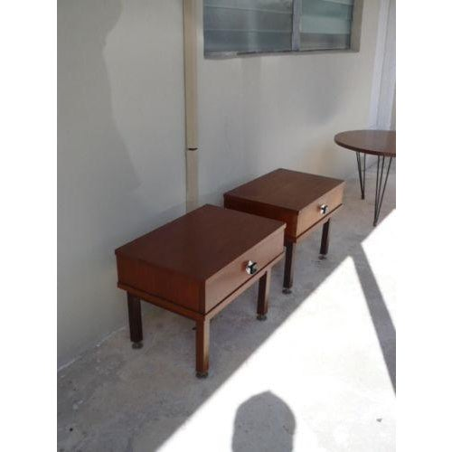 Mid-Century Modern 1960s Danish Modern Rosewood Nightstands - a Pair For Sale - Image 3 of 9