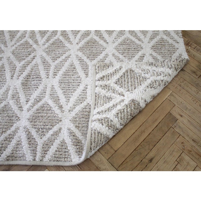 New Modern Wool and Natural Fiber Rug For Sale - Image 9 of 10