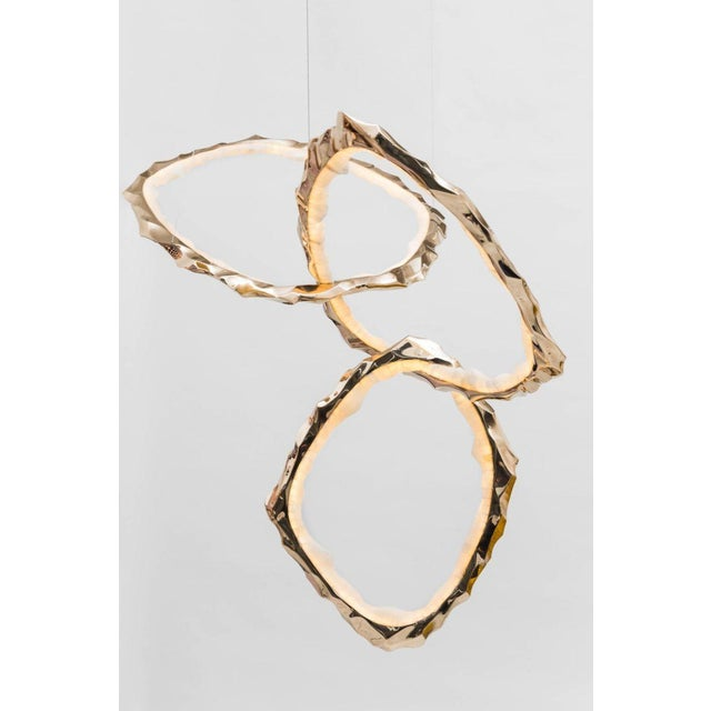Markus Haase, Bronze and Onyx Circlet Chandelier, Usa, 2018 For Sale In New York - Image 6 of 11