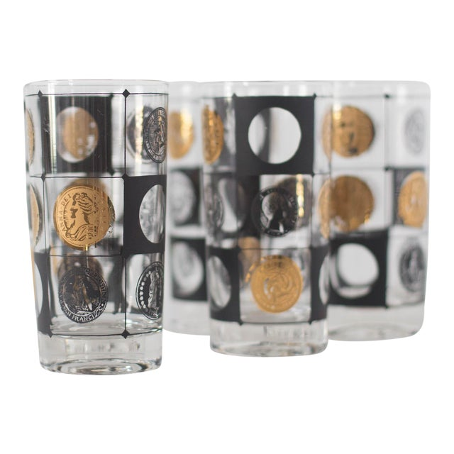 Mid-Century Coin Glasses- Set of 5 - Image 1 of 5