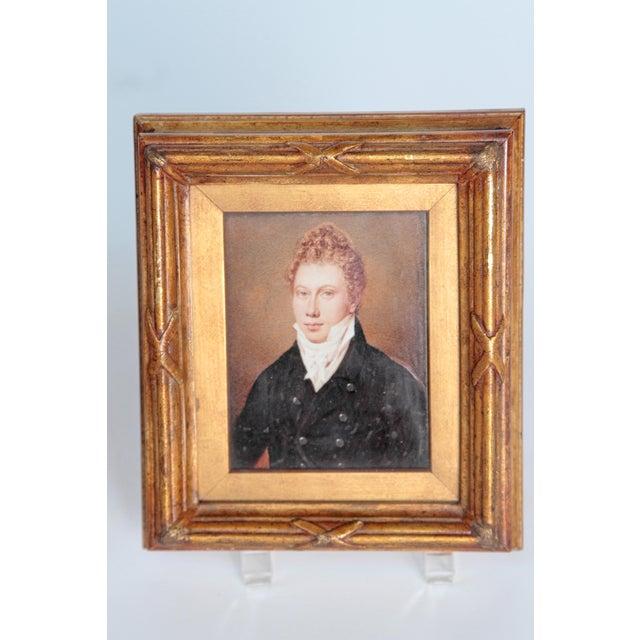 Georgian Pair of Well-Painted Portrait Miniatures / Handsome English Regency Gentlemen For Sale - Image 3 of 13