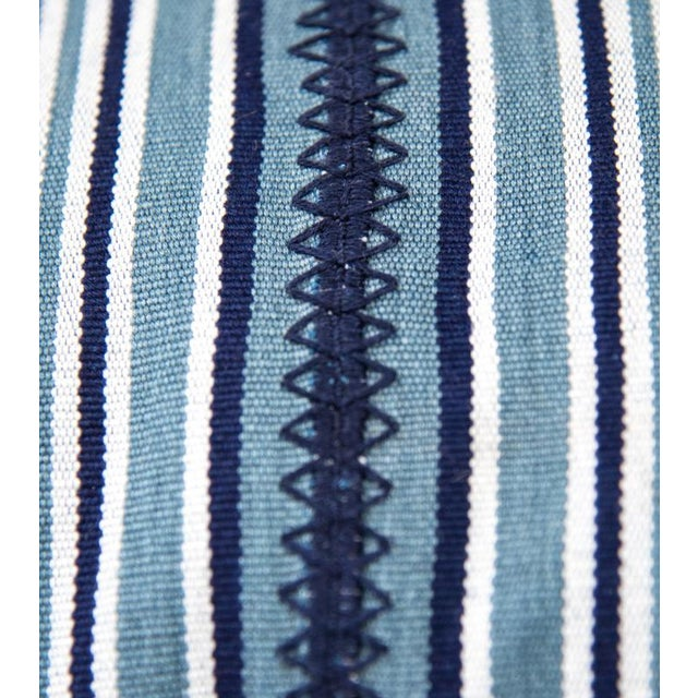 Guatemalan Indigo & Teal Ikat Pillow - Image 2 of 6