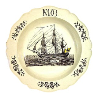 Wedgwood Nautical Creamware Soup Plate