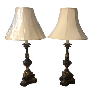 Gothic Table Lamps - A Pair For Sale