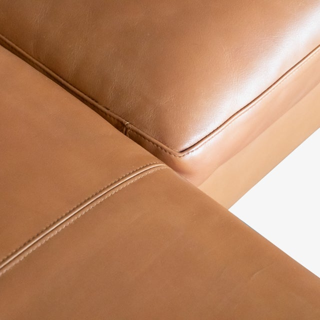 Brown B&b Italia Charles Sectional in Cognac Leather by Antonio Citterio For Sale - Image 8 of 10