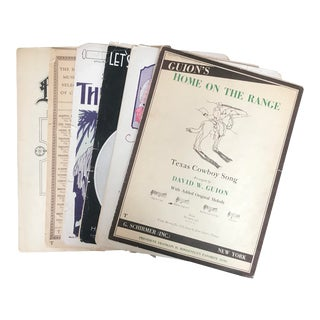 1930's American Music Sheets (Set of 6), Home on the Range For Sale