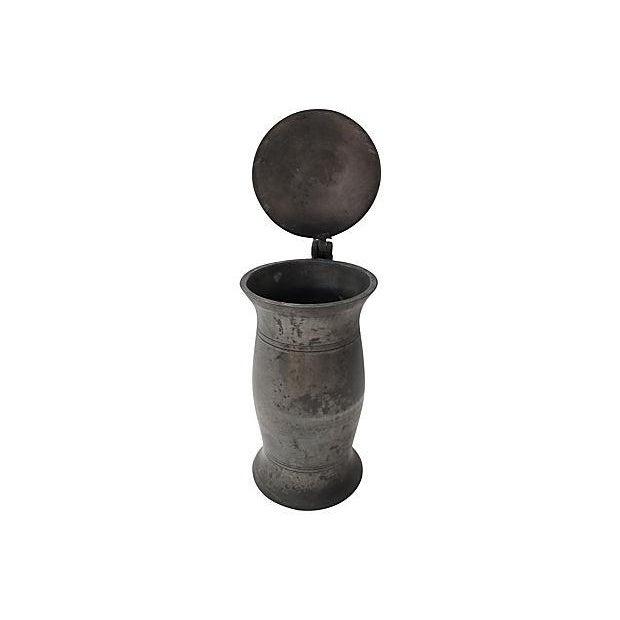 Antique English Polished Pewter Tankard - Image 3 of 4