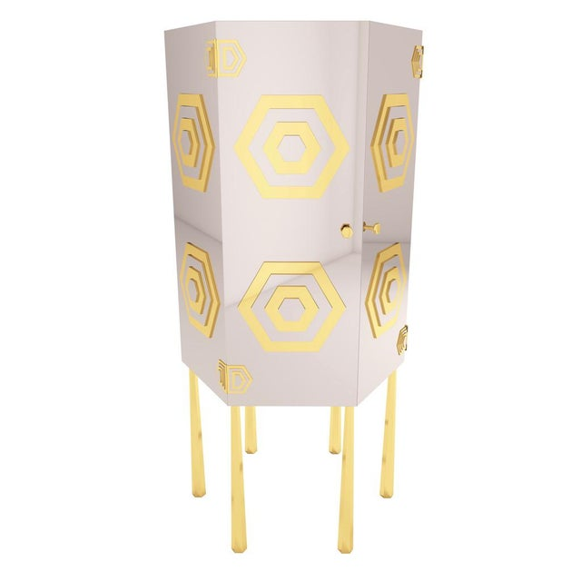 Hex Cabinet by Artist Troy Smith - Contemporary Modern Design - Handmade Furniture - Very Limited Edition For Sale - Image 11 of 11